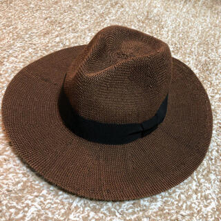 シマムラ(しまむら)のしまむら 麦わら帽子 ストローハット ブラウン 美品(麦わら帽子/ストローハット)