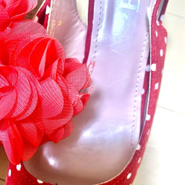 ESPERANZA(エスペランサ)のESPERANZA 赤ドット サンダル レディースの靴/シューズ(サンダル)の商品写真