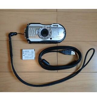 リコー(RICOH)のRICOH リコー   防水カメラ WG-4 バッテリー 充電ケーブル付き(コンパクトデジタルカメラ)