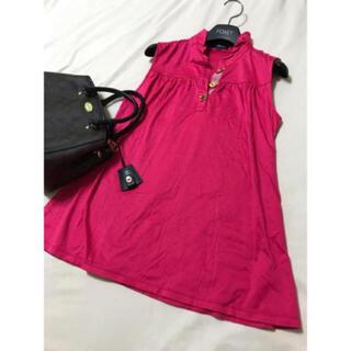 バーバリー(BURBERRY)の美品 バーバリー ロンドン フリル カットソー ピンク 150 タンクトップ(Tシャツ/カットソー)