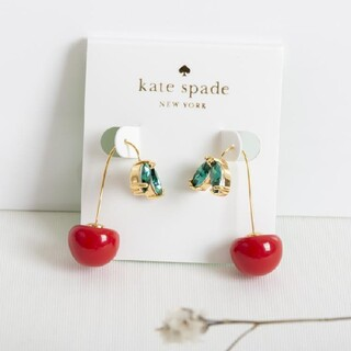 kate spade new york - 【新品♠本物】ケイトスペード さくらんぼ チェリー ハンガーピアス