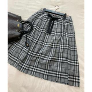 バーバリー(BURBERRY)の美品 バーバリー ロンドン スカート チェック グレー 大きいサイズ(ひざ丈スカート)