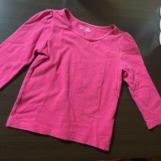 ニシマツヤ(西松屋)の80cm 長袖 Tシャツ ピンク(Tシャツ)