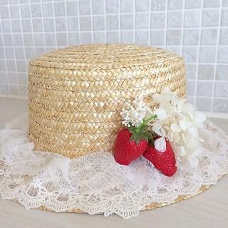 2021 ショートケーキカンカン帽(麦わら帽子/ストローハット)