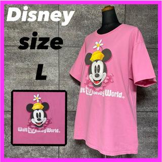 ディズニー(Disney)のDisney ディズニー ミニーマウス Tシャツ サイズL ビッグシルエット(Tシャツ(半袖/袖なし))