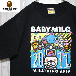 アベイシングエイプ(A BATHING APE)の2011年製 アベイシングエイプ ベビーマイロ シングルステッチ ブラック(Tシャツ/カットソー(半袖/袖なし))