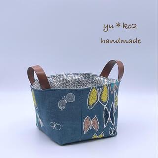 ミナペルホネン(mina perhonen)のハンドメイド ミナペルホネン*choucho&skyflower 布バスケット(雑貨)