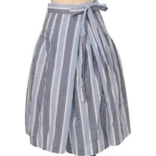 ジェーンマープル(JaneMarple)のストライプラップスカート(ひざ丈スカート)