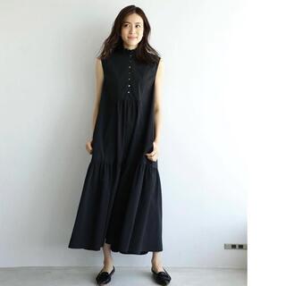 TOMORROWLAND - 【笹川友里さんコラボ】フリルカラーシャツワンピース ハッシュニュアンス