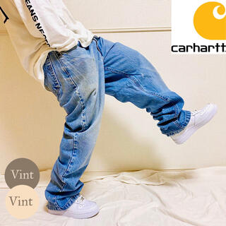carhartt - USA製 カーハート ストーンウォッシュ デニム ペインター バギー パンツ
