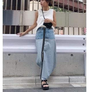 Ameri VINTAGE - ameri vintage ジッパーデニムスカート