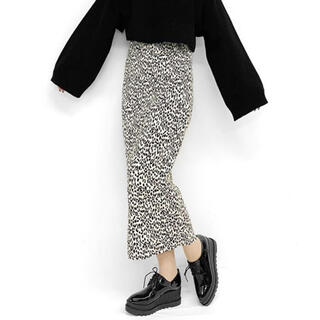 EMODA - LVEU.*マイクロプリーツレオパードスカート