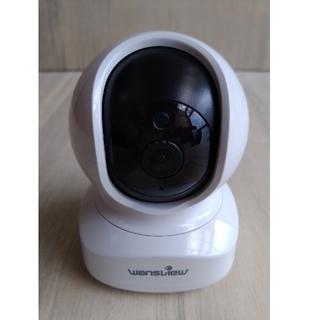 ネットワークカメラ 1080p 200画素WiFi双方向音声暗視撮影(美品)(防犯カメラ)