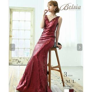 dazzy store - 【Belsia】贅沢スパンコールVネックキャバドレス S