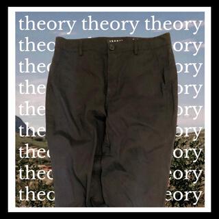 theory - 【超軽量】Theory テーパード パンツ 黒 スリム ボトムス クロ  夏服