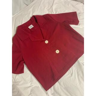 ゴゴシング(GOGOSING)の韓国/ビッグボタンシャツ(シャツ/ブラウス(半袖/袖なし))