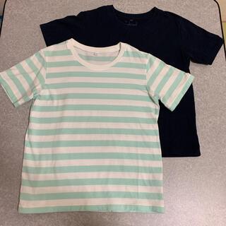 ムジルシリョウヒン(MUJI (無印良品))のせいな様専用 MUJI Tシャツ 140サイズ 2枚  半袖T(Tシャツ/カットソー)