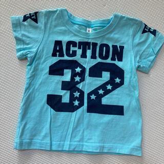 ニシマツヤ(西松屋)の80 半袖 Tシャツ 水色(Tシャツ)