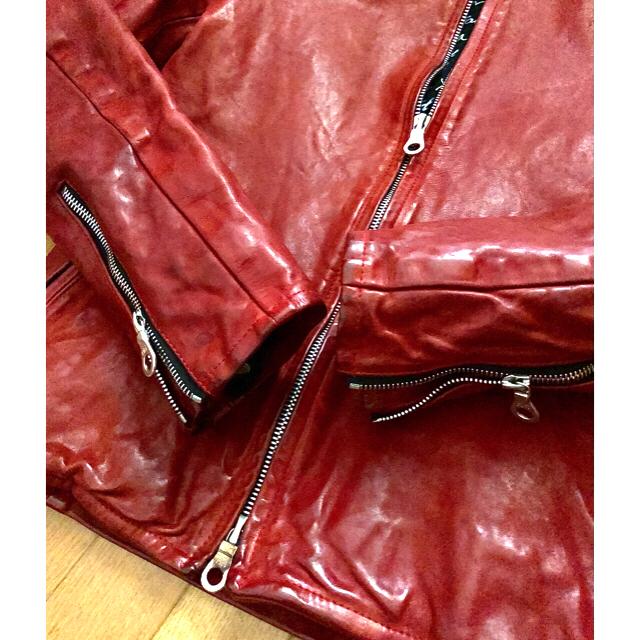ISAMUKATAYAMA BACKLASH(イサムカタヤマバックラッシュ)のtack様用バックラッシュイタショル シングルライダース incarnation メンズのジャケット/アウター(レザージャケット)の商品写真
