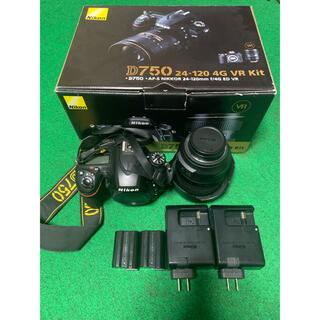 ニコン(Nikon)のNikon D750 24-120 VR レンズキット バッテリ、充電器予備付(デジタル一眼)