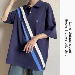 ブルックスブラザース(Brooks Brothers)の90s 古着 ブルックスブラザーズ 切り替え ポロシャツ 刺繍ロゴ ビンテージ(ポロシャツ)