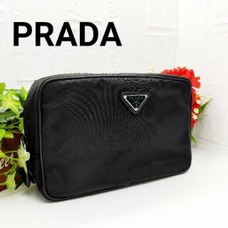 PRADA - 【鑑定済み】PRADA プラダ セカンドバッグ ポーチ クラッチバッグ 小物入れ