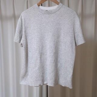 ユニクロ(UNIQLO)のUNIQLO U コットンクルーネックセーター 白 ホワイト white M(ニット/セーター)