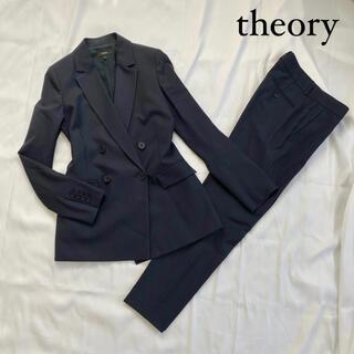 theory - theory スーツ セットアップ テイラー ダブルジャケット パンツ M 紺