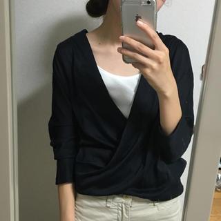 ニジュウサンク(23区)の23区♡美品!7部丈 カットソー 紺(Tシャツ(長袖/七分))