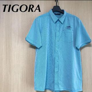 ティゴラ(TIGORA)のTIGORA ティゴラ メンズ L ポロシャツ 半袖 ブルー トップス ウェア(ウエア)