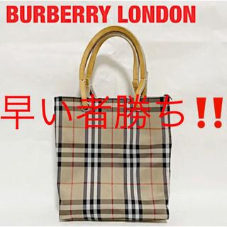 バーバリー(BURBERRY)の【美品】BURBERRY LONDON トートバッグ ミニバッグ ノバチェック(トートバッグ)