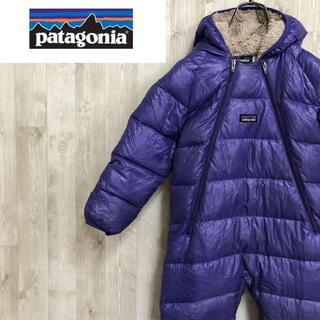 パタゴニア(patagonia)のパタゴニア ロンパース アウター 2歳 90cm ダックダウン 冬物(その他)