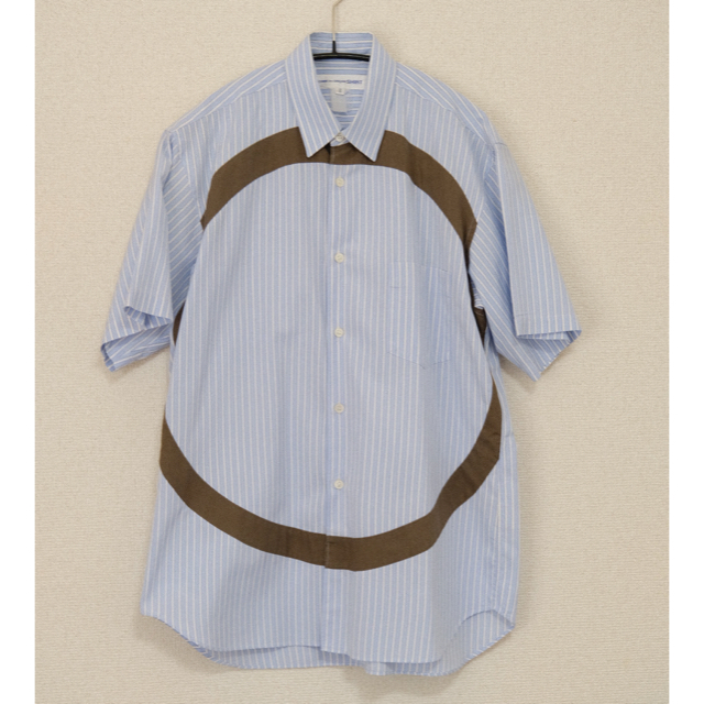 COMME des GARCONS HOMME PLUS(コムデギャルソンオムプリュス)のCOMME des GARCONS SHIRT 半袖シャツ サークル ストライプ メンズのトップス(シャツ)の商品写真