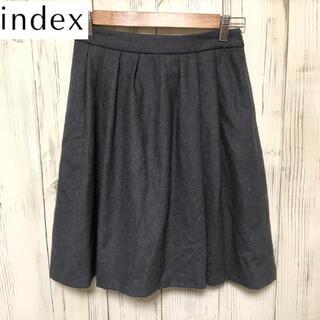 インデックス(INDEX)の【希少】INDEX  膝丈 フレアスカート Mサイズ(ひざ丈スカート)