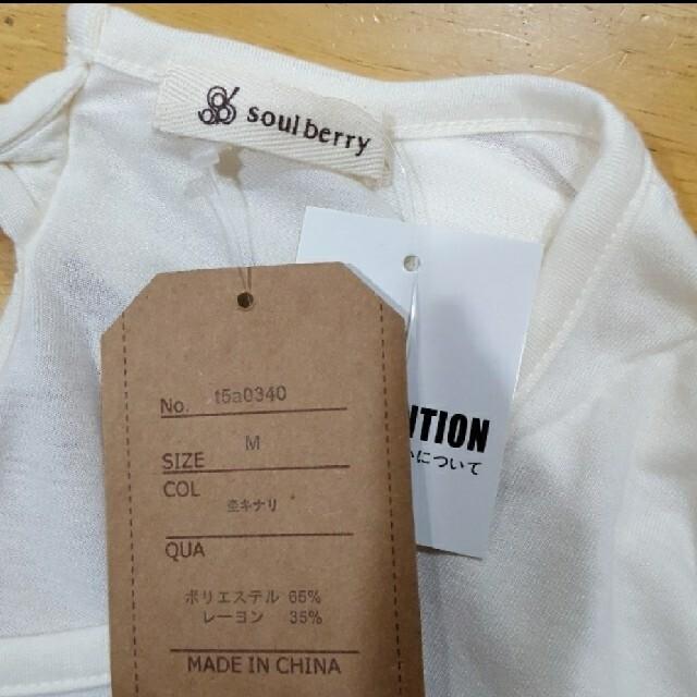 Solberry(ソルベリー)の【M】soulberry★カットソー★新品未使用 レディースのトップス(カットソー(半袖/袖なし))の商品写真