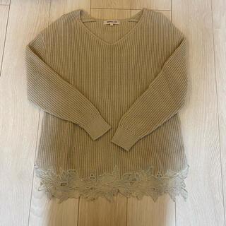アプワイザーリッシェ(Apuweiser-riche)の裾刺繍ニット♡Apuweiser-riche(ニット/セーター)