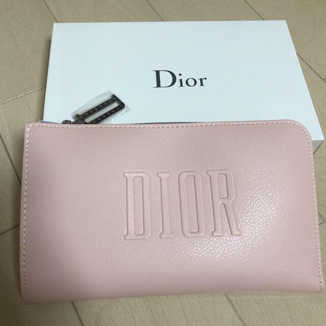 Dior(ディオール)の未使用 アメリカsaks限定 ノベルティ コスメポーチ ピンク 合成革 レディースのファッション小物(ポーチ)の商品写真