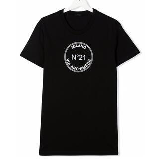 ヌメロヴェントゥーノ(N°21)の【新品】N°21 ヌメロヴェントゥーノ ロゴプリント Tシャツ 16Y(Tシャツ(半袖/袖なし))
