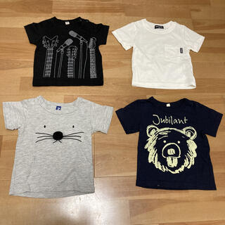ニシマツヤ(西松屋)の西松屋 しまむら 4枚 まとめ売り 80(Tシャツ)