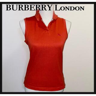 BURBERRY - BURBERRY London ノースリーブ ポロシャツ