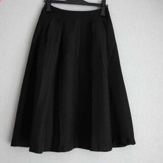 インデックス(INDEX)のindex 黒 スカート(ひざ丈スカート)