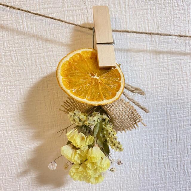 ドライフラワー スワッグ ガーランド ミモザ スターチス ミニバラ 紫陽花 ハンドメイドのフラワー/ガーデン(ドライフラワー)の商品写真