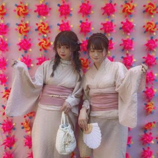 ワンアフターアナザーナイスクラップ(one after another NICE CLAUP)の新品♡rili tokyo 浴衣♡わたあめ(浴衣)