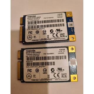 東芝 - TOSHIBA製 SSD 128GB mSATA 2個セット動作確認済み