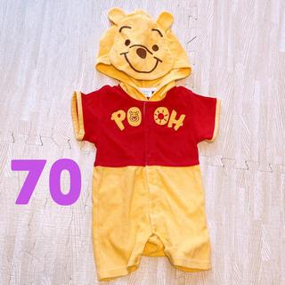 Disney - 半袖 ロンパース 着ぐるみ プーさん 70