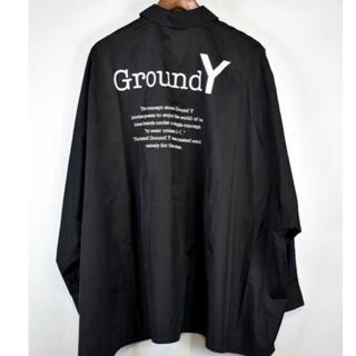 Yohji Yamamoto - Ground Y/グラウンドワイ 20SS ポリエステルタフタロゴドレスシャツ