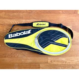 バボラ(Babolat)の【新品同様】バボラ『ロゴ ラケットバッグ/ケース』ブラック/テニス/3-4本収納(バッグ)