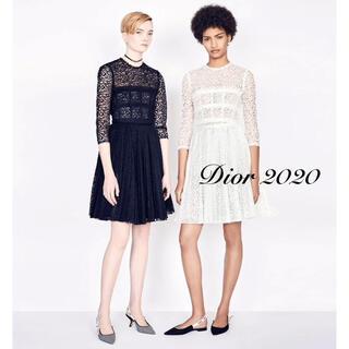 クリスチャンディオール(Christian Dior)の【Christian Dior】2020年総レースプリーツワンピース(ひざ丈ワンピース)