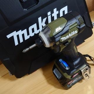 マキタ(Makita)のマキタ 40V 新品 インパクトドライバー TD001GRDX O(オリーブ)(工具/メンテナンス)