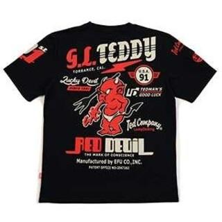 テッドマン(TEDMAN)のテッドマン/Tシャツ/ブラック/TDSS-533/カミナリモータース(Tシャツ/カットソー(半袖/袖なし))